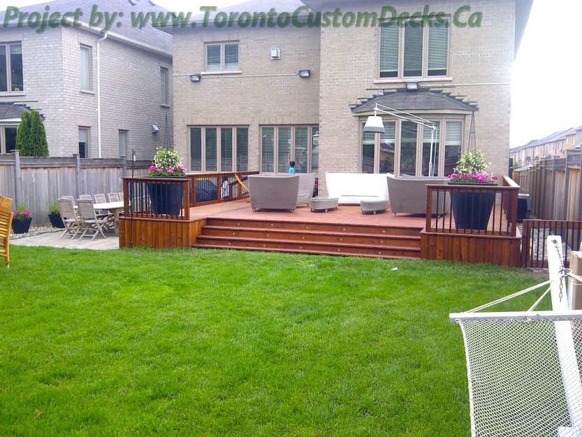 Cedar patio decks and landscaping design toronto custom for Custom landscape design