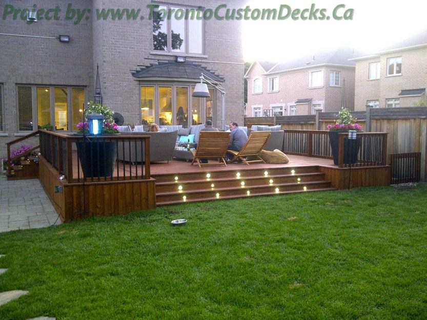 Cedar patio decks and landscaping design toronto custom for Custom deck ideas