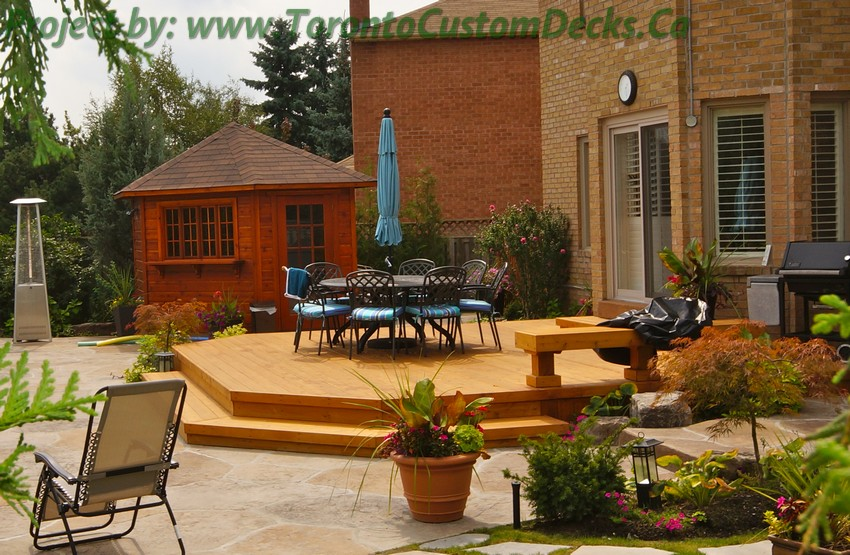Patio deck and landscaping project toronto custom deck for Landscape design toronto