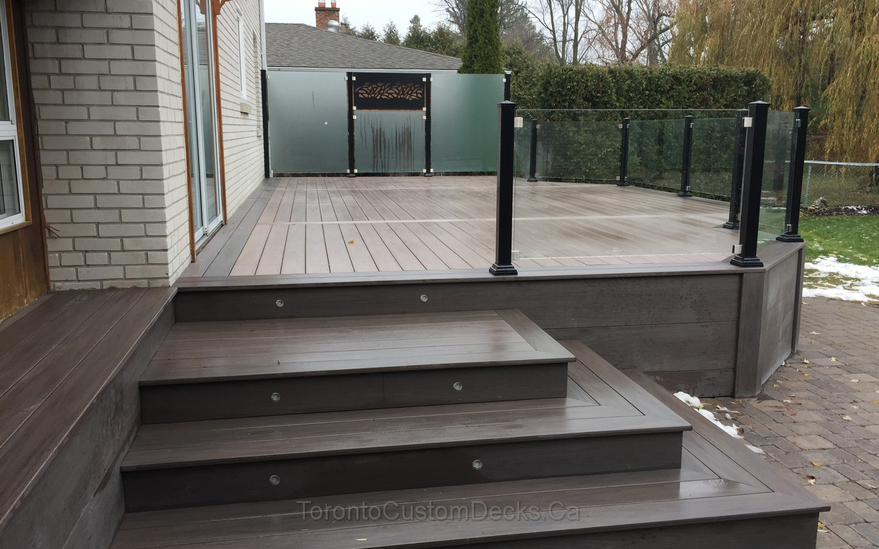 Composite Decking Glass Railings 08 Toronto Custom Deck