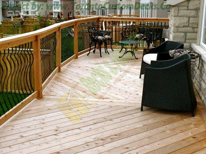 Diagonal Cedar Deck design