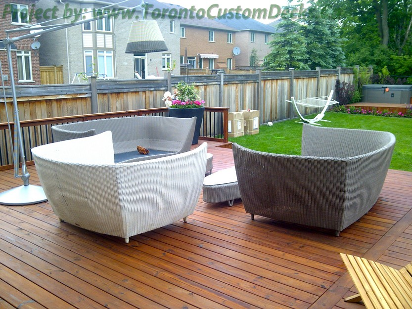 Cedar Patio decks and landscaping design