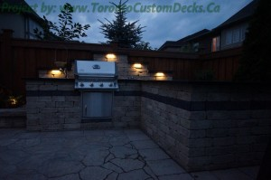 outdoor kitchen to fit in with landscape