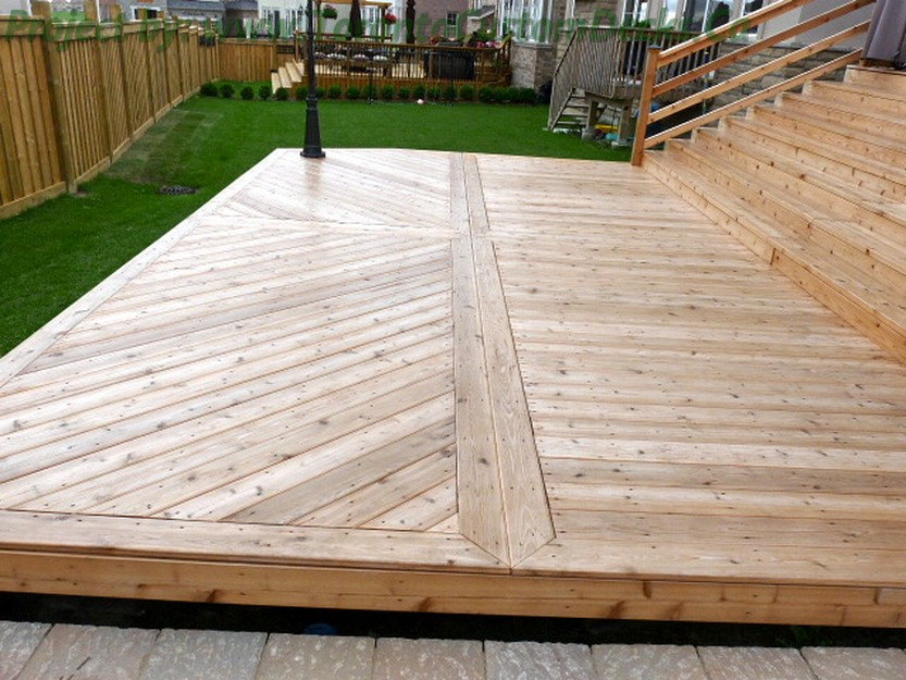 patio started decked deck out outdoors getting circular patios decks remodel hgtv