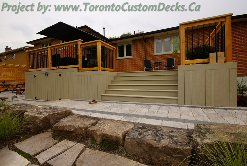 PVC Deck with interlock driveway