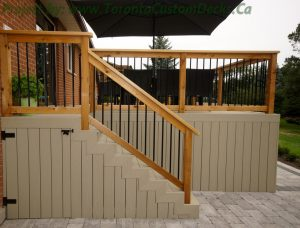 built-in deck design features