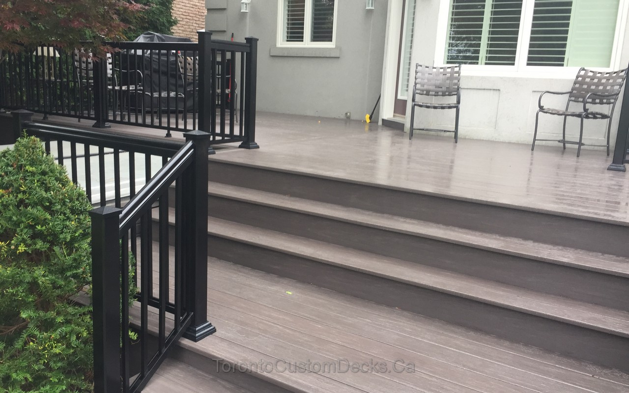 aluminium railings deck