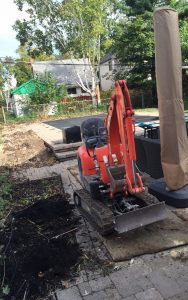 post holes digging