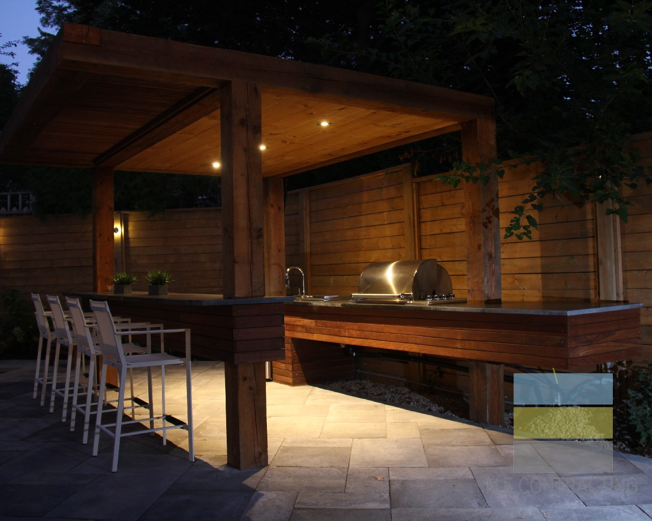 Wooden Deck Outdoor Kitchen Project